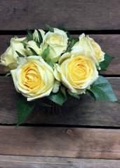 "ITEM 10141 Y - 9"" YELLOW ROSE BUNDLE"