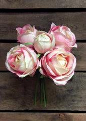 "ITEM 10140 CMPK - 10.5"" CREAM PINK ROSE BUNDLE"