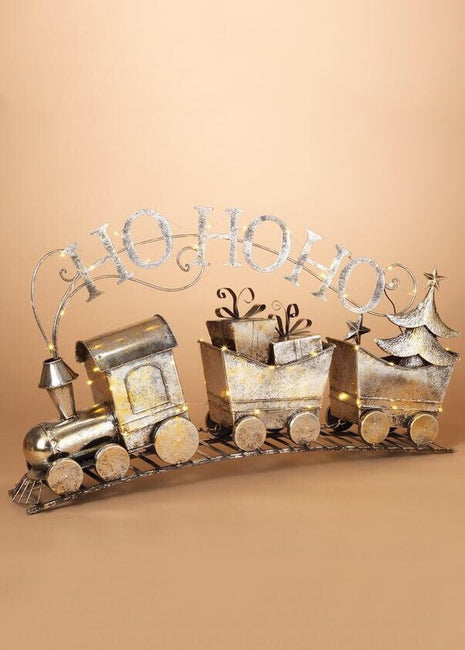"ITEM G2349660 - 34""L B/O LIGHTED METAL HOLIDAY TRAIN"
