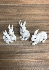 "ITEM KOP 12225 - 4.5""X3.5"" RESIN BUNNIES - 3 ASSORTED"