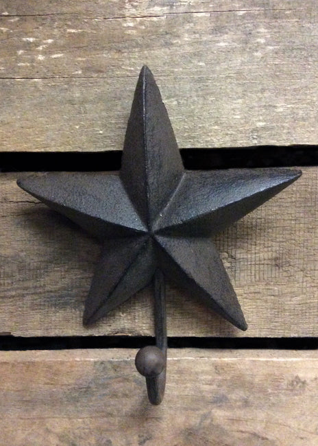 "ITEM KOP 14836 - 3.5"" X 6"" CAST IRON STAR HOOK"