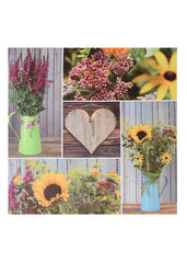 "ITEM KOP 20140 - 23.5"" LED FLORAL COLLAGE CANVAS"