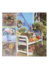 "ITEM KOP 20192 - 23.5"" LED GARDEN COLLAGE CANVAS"
