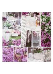 "ITEM KOP 20195- 23.5"" LED GARDEN COLLAGE CANVAS"