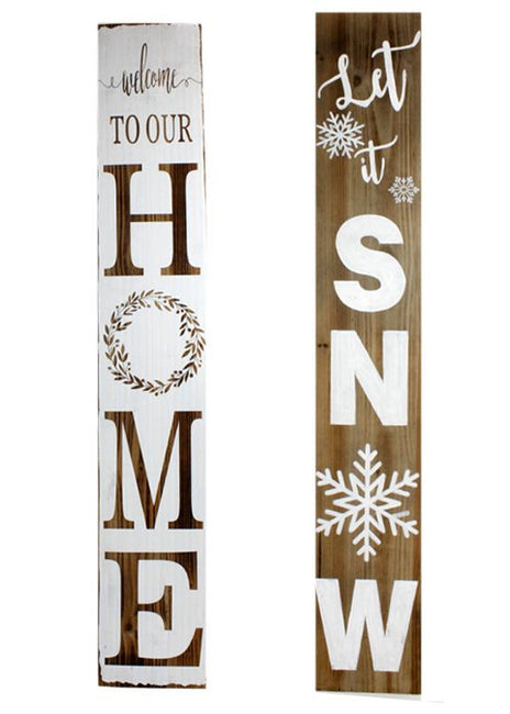 "ITEM KOP 21364 - 47.5""X8"" REVERSIBLE HOME PORCH SIGN"