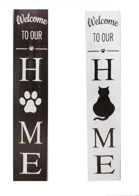"ITEM KOP 21399 - 8""X47.5"" DOUBLE SIDED PET PORCH SIGN"