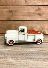 "ITEM KOP 21676 - 11""X5"" METAL WHITE TRUCK DECOR"
