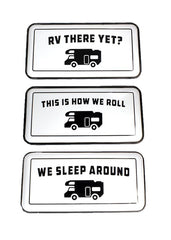 "ITEM KOP 22375 - 15.5""X7.75"" RV CAMPER ENAMEL SIGNS - 3 ASSORTED"