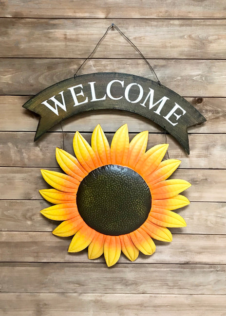 "ITEM KOP 22518 - 25.75""X33"" SUNFLOWER WELCOME SIGN"