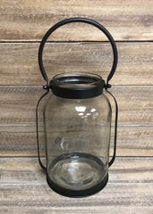 "ITEM KOP 23017 - 5.5""X5.75""X9.5"" GLASS JAR WITH HANDLE"