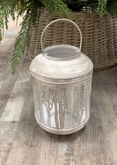 ITEM KOP 23141 - 6in X8.5in X6in SHADOW CAST CANDLE LANTERN