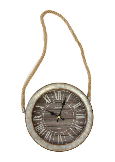 "ITEM KOP 23664 - 9"" CLOCK ON A ROPE"