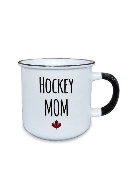 "ITEM KOP 25017 - 3.5""X3.75""X3"" CERAMIC MUG WITH ""HOCKEY MOM"""