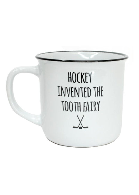 "ITEM KOP 25053 - 3.5""X3.75""X3"" ""HOCKEY INVENTED THE TOOTH FAIRY"" MUG"