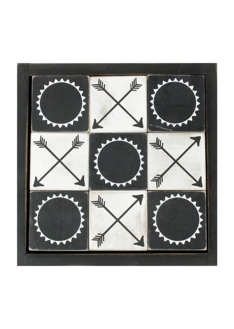 "ITEM KOP 25231 - 12"" TIC TAC TOE FARMHOUSE SET"