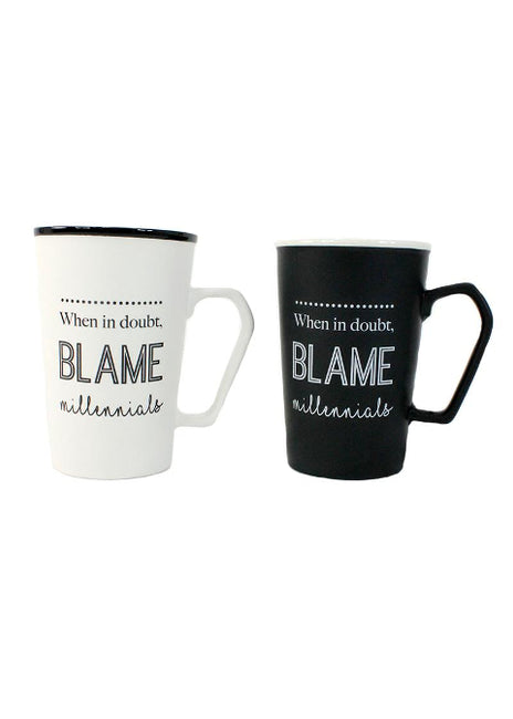 "ITEM KOP 25547 - 3.5""X5"" BLAME THE MILENIALS MUG"