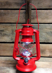 "ITEM KOP 26907 - 9.75"" RED LED METAL LANTERN"