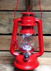 "ITEM KOP 26908 - 12"" RED  LED METAL LANTERN"