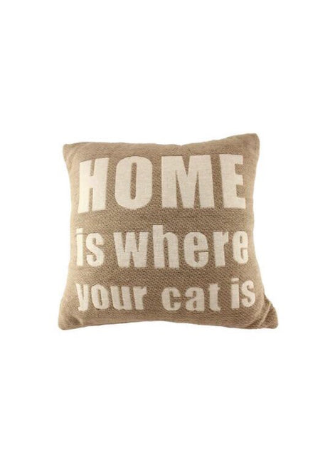"ITEM KOP 27078 - 10"" HOME IS WHERE YOUR CAT IS PILLOW"