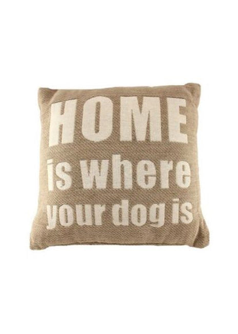 "ITEM KOP 27079 - 10"" HOME IS WHERE YOUR DOG IS PILLOW"