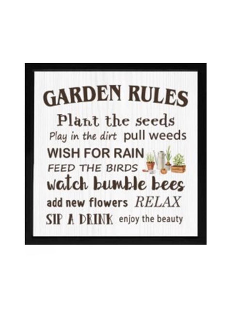 "ITEM KOP 28478 - 15.5"" GARDEN RULES SIGN"
