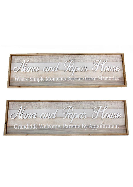 "ITEM KOP 29623 - 39""X11.75"" NANA & PAPA SIGNS"