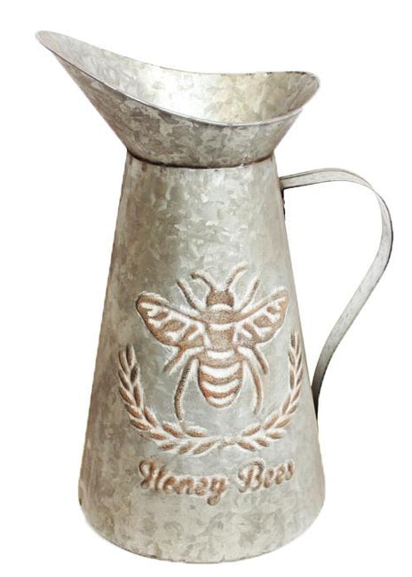 "ITEM KOP 29730 - 7.5""X6.25""X11.5"" METAL PITCHER WITH BEE DESIGN"