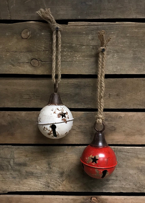 "ITEM KOP 41209 - 4"" ANTIQUE JINGLE BELL WITH JUTE ROPE"