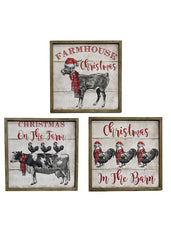 "ITEM KOP 42633 - 19"" CHRISTMAS FARMHOUSE PLAQUE"