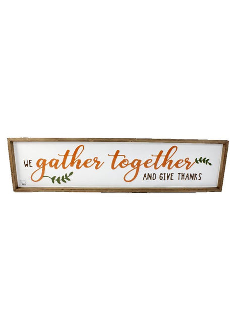 ITEM KOP 43618 - 43inX10in GATHER TOGETHER WALL PLAQUE