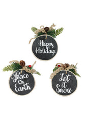 "ITEM KOP 43950 - 4"" WOOD ORNAMENTS"
