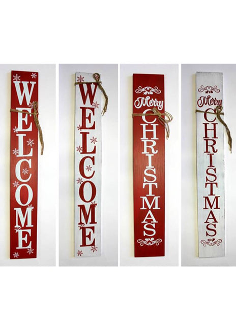 "ITEM KOP 44219 - 8""X54.5"" WOODEN CHRISTMAS SIGN"