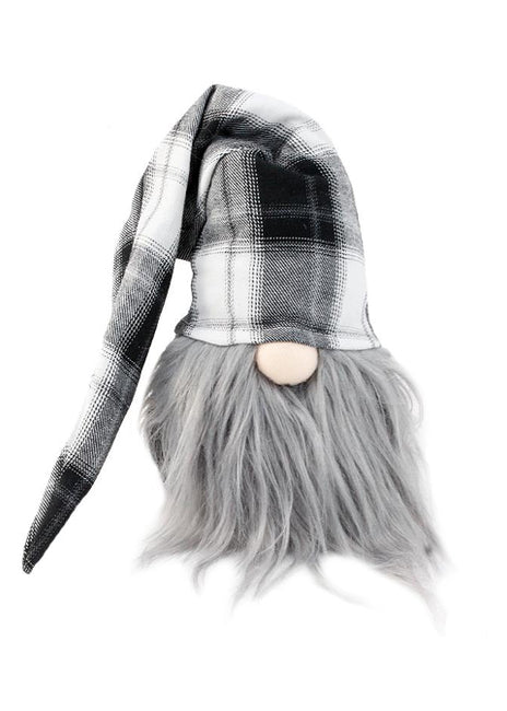 "ITEM KOP 49224 - 5""X4.25""X19"" GNOME BLACK & WHITE PLAID"