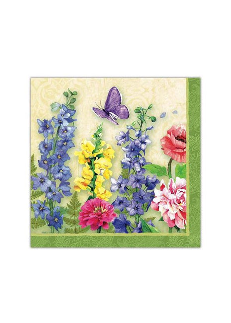 ITEM SS2001 BU - 13in 20 PACK LUNCHEON 3 PLY NAPKIN (BUTTERFLY GARDEN)