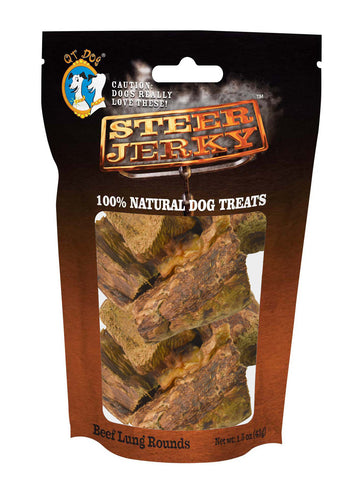 Steer Jerky Beef Lung Rounds