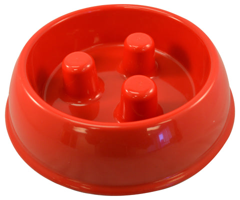 Brake-Fast Original Slow Feed Dog Bowl Made In USA Small Red