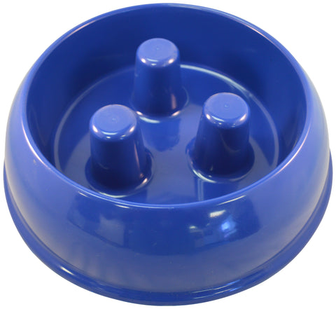 Brake-Fast Original Slow Feed Dog Bowl Made In USA Medium Blue