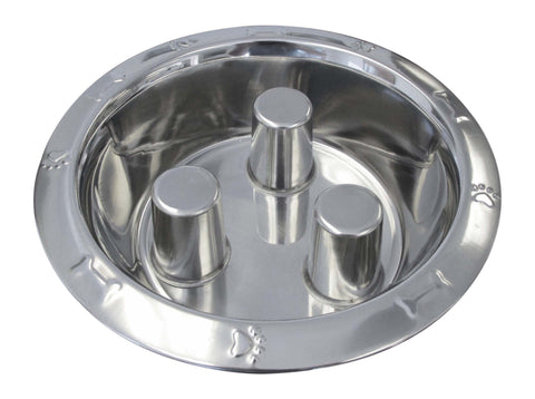 Embossed  Slow Down Stainless Steel Bowls