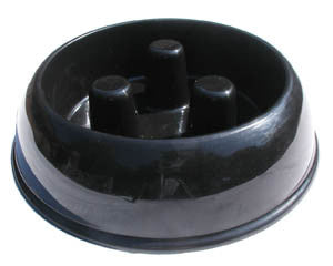 Slow feed dog bowl - large black