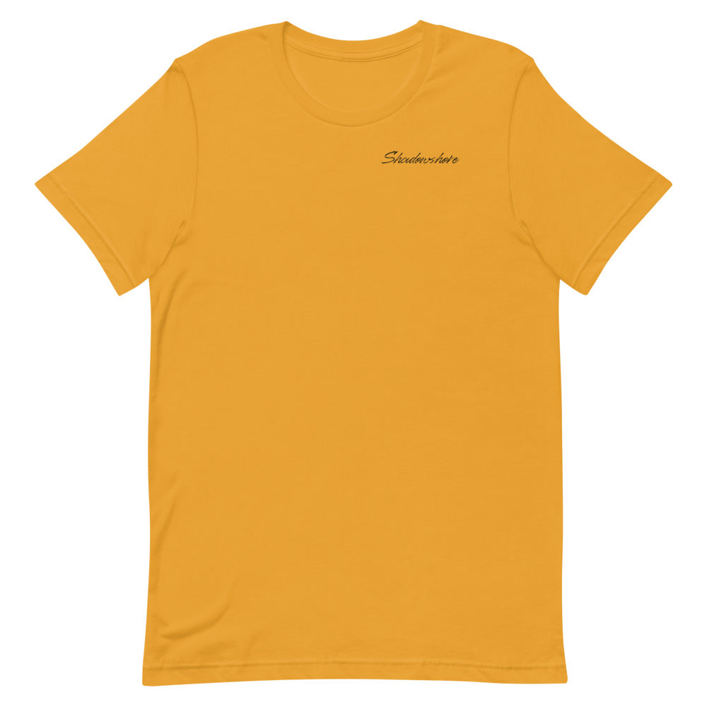 Shadowshore tee in mustard yellow