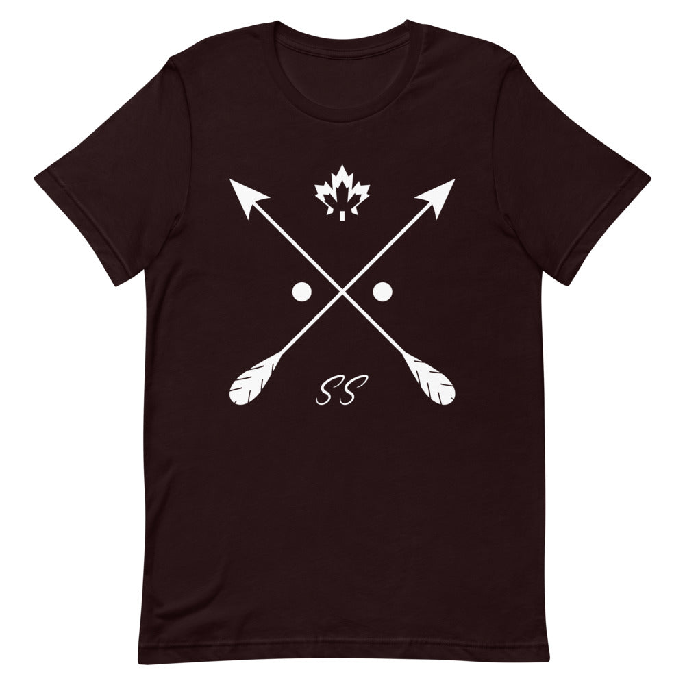 Shadowshore big logo tee in maroon black