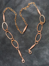 Load image into Gallery viewer, Copper Chain Link Face Mask Holder + Lanyard + Eyeglass Holder