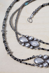Sterling Silver Mexican Concho Variable Length Necklace