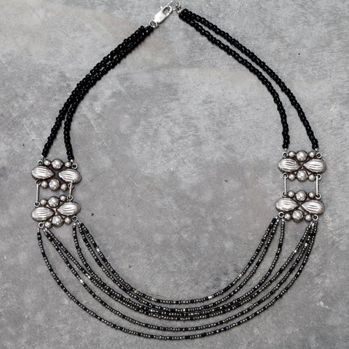 Moonlight 55 Mexican Sterling Silver Concho Necklace