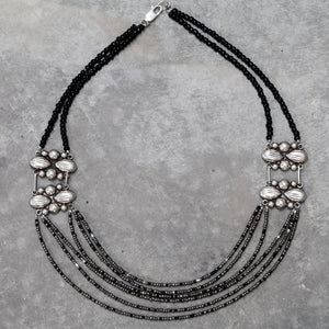 Mexican Concho + Sterling Silver Multi-Strand Necklace