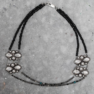 Sterling Silver Mexican Concho Necklace