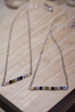 Load image into Gallery viewer, Sterling Silver Swarovski Gem Necklace