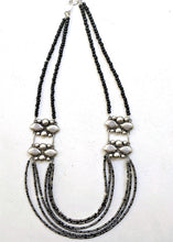 Load image into Gallery viewer, Mexican Concho + Sterling Silver Multi-Strand Necklace