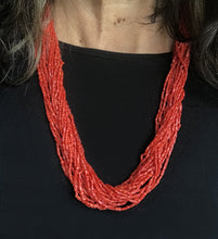 Load image into Gallery viewer, Coral multi-strand beaded necklace lanyard eyeglass holder