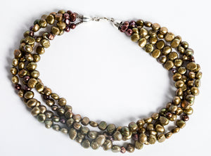 Multi-Strand Freshwater Pearl Necklace